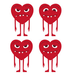 Emoticons heart setemoji heart vector
