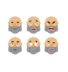 Emotions man Set emoji avatar people Good and evil vector image