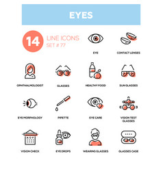 eyes - line design icons set vector image