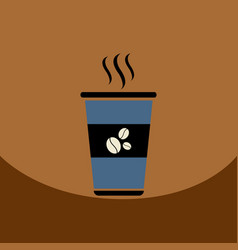 flat icon design collection cup of hot vector image
