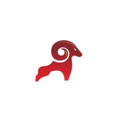 Geometric creative ram logo vector