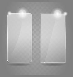glare glass framework set vector image