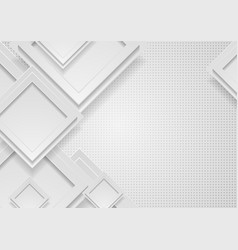 grey squares abstract hi-tech geometric background vector image