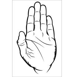 Hand gesture - Stop vector image