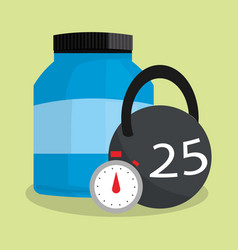 Health and fitness related icons image vector
