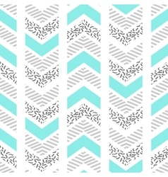 Herringbone abstract seamless pattern in memphis vector image