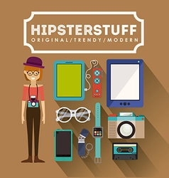 Hipster design vector