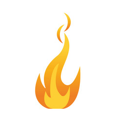 hot fire flame vector image