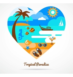 I love tropical paradise vector