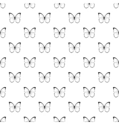 Insect butterfly with white black wings pattern vector image