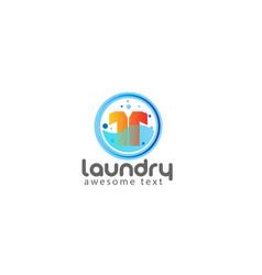 Laundry logo templates vector