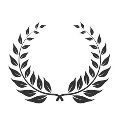 laurel wreath icon award and winner symbol vector image