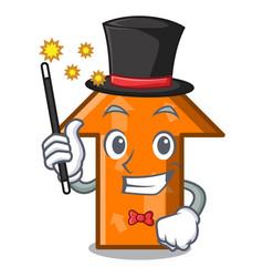 magician arrow mascot cartoon style vector image