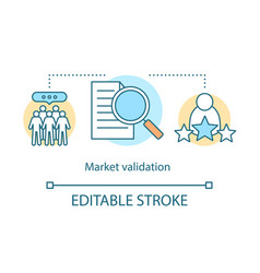 Market validation concept icon vector