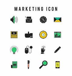 marketing icon vector image