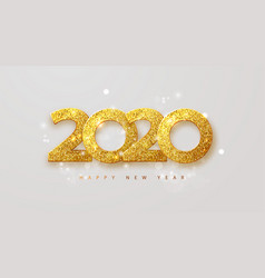 Merry christmas and happy new year 2020 banner vector