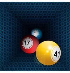 Metallic honeycomb tunnel and bingo balls vector