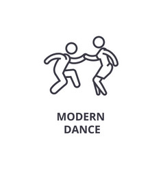 modern dance thin line icon sign symbol vector image