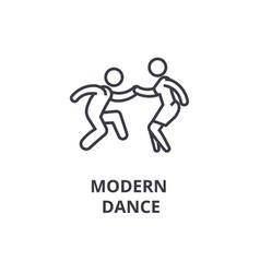 Modern dance thin line icon sign symbol vector