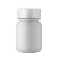 pill bottle medicine plastic container - mock up vector image