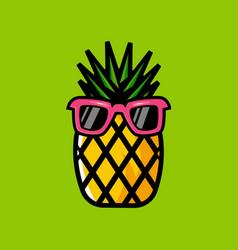 Pineapple cartoon logo vector