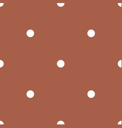 polka dots on brown background retro pattern vector image