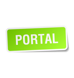 Portal square sticker on white vector