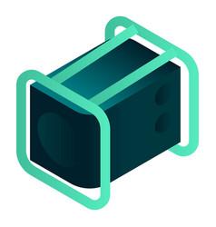 Power generator icon isometric style vector