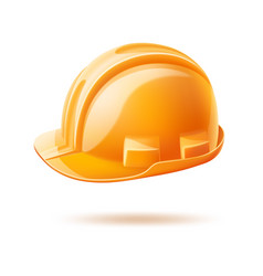 Realistic hard hat safery helmet labour day vector