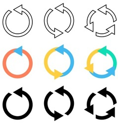 Rotating circle arrows vector