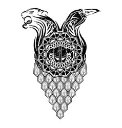 scandinavian tattoo 0007 vector image