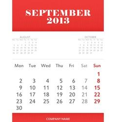 September 2013 calendar design vector