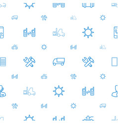 service icons pattern seamless white background vector image