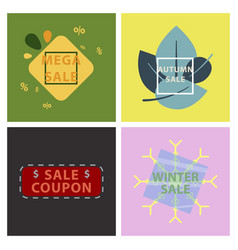 set of sale banners template design in color vector image