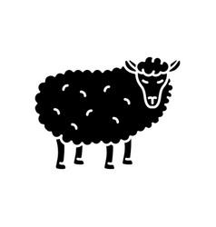 sheep black glyph icon vector image