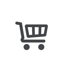 shopping cart icon symbol line outline art vector image