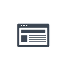 site related glyph icon vector image