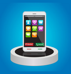 smart phones with app icons vector image
