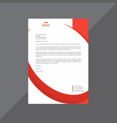 Sophisticated letterhead design with duotone vector