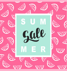 Summer sale promotional banner template vector