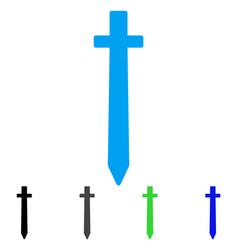 Symbolic sword flat icon vector
