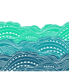 Three Waves Horizontal 2 vector image