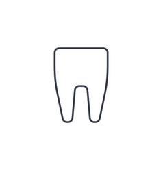 tooth thin line icon linear symbol vector image