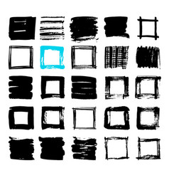 uniqiue handdrawn shapes of squares for logo vector image