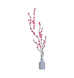 vase flowers interior design vector image