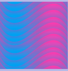 Vibrant color wave seamless pattern vector