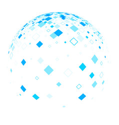 white ball with blue rhombs vector image