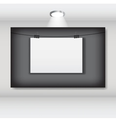 White blank page with clip vector image