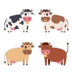 Cute Cow Set vector image vector image