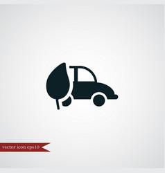 eco car icon simple vector image